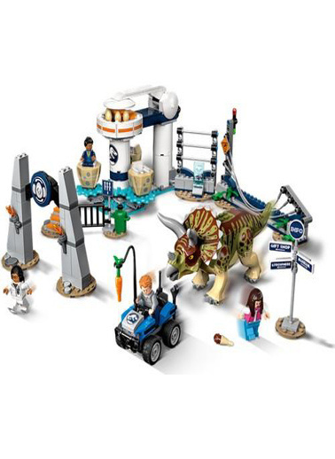 Lego LEGO Jurassic World Triceratops Saldırısı Renkli